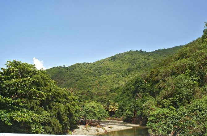 A river en-route to Baracoa in Cuba
