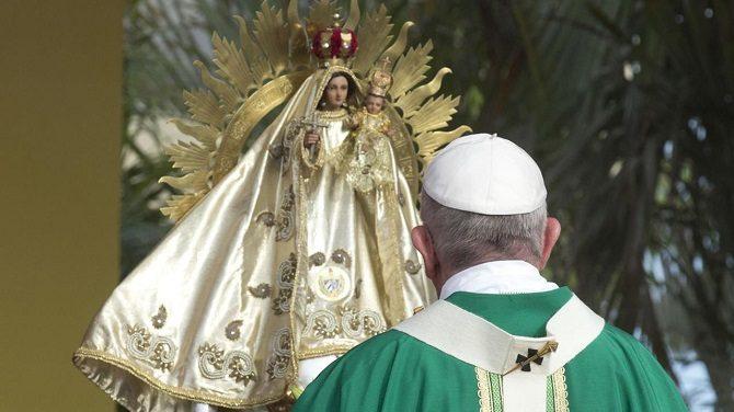 Pope Francis at El Cobre