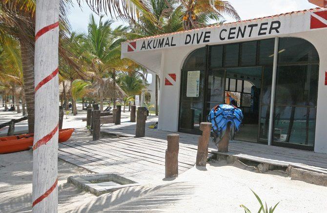 Scuba diving centre in Akumal Yucatan Peninsula
