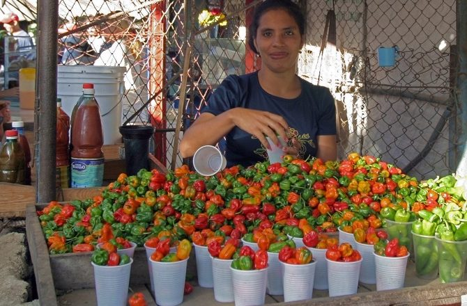 Market stall in Camaguey Cuba