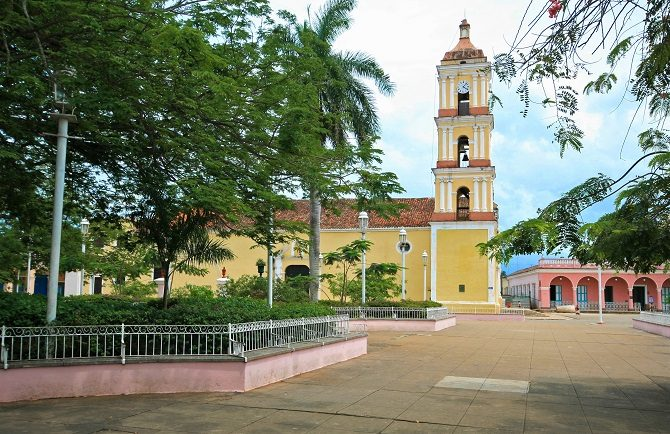 Plaza and church in Remedios Cuba