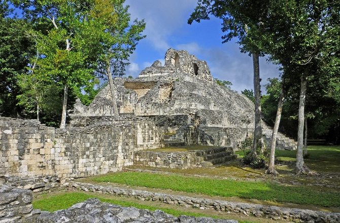 Ruins of a pyramid at Calakmul