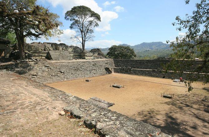 The Mayan ruins at Copan in Honduras