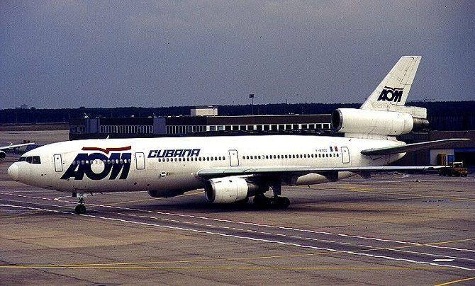 An old AOM DC10 leased to Cubana Airlines