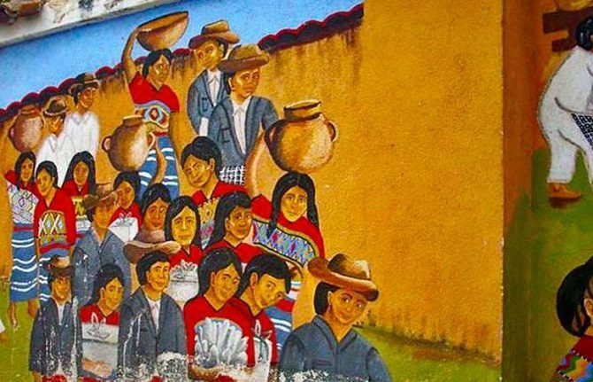 Comalapa mural in Guatemala