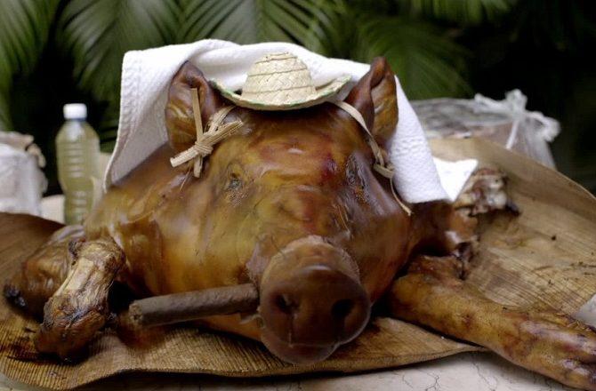 Anthony Bourdain pigshead stew in Cuba