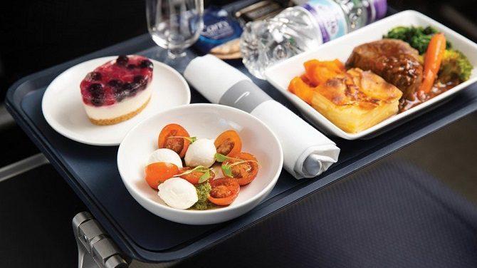 New meal service on British Airways World Traveller Plus