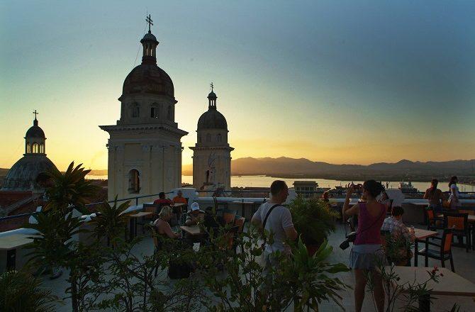Rooftop view from the Hotel Casa Granda in Santiago de Cuba