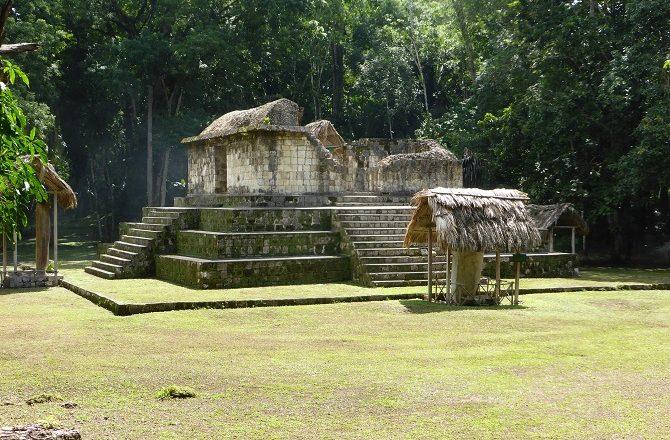 Pyramid at Ceibal in Peten Guatemala