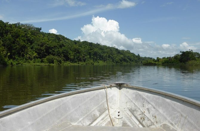 Boat journey along the Pasion River to Ceibal