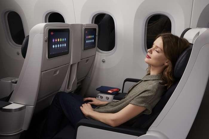 Airfrance Premium economy passenger