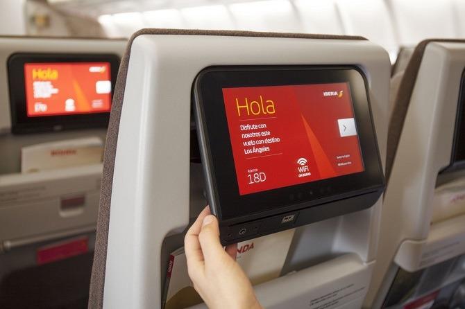 Iberia Seatback tv