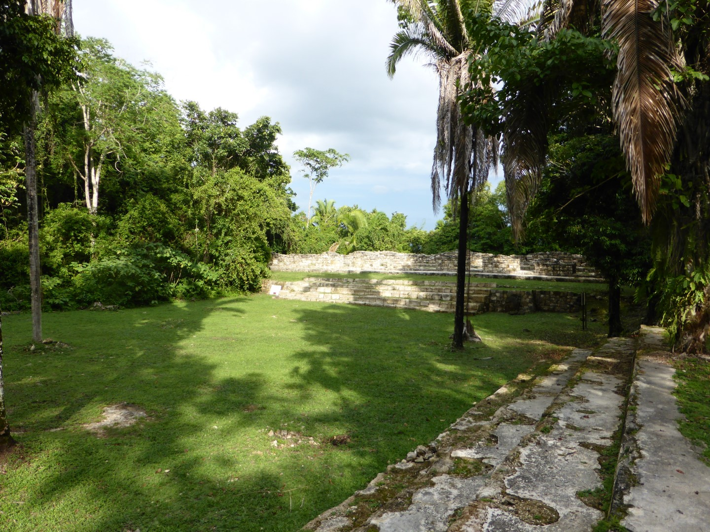 Ruins of building at Aguateca, Guatemala