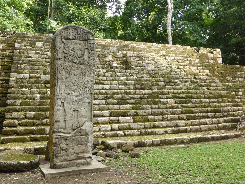 Mayan stelae at Aguateca, Guatemala