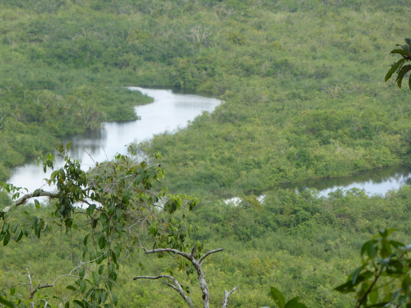 River approach to Aguateca, Guatemala