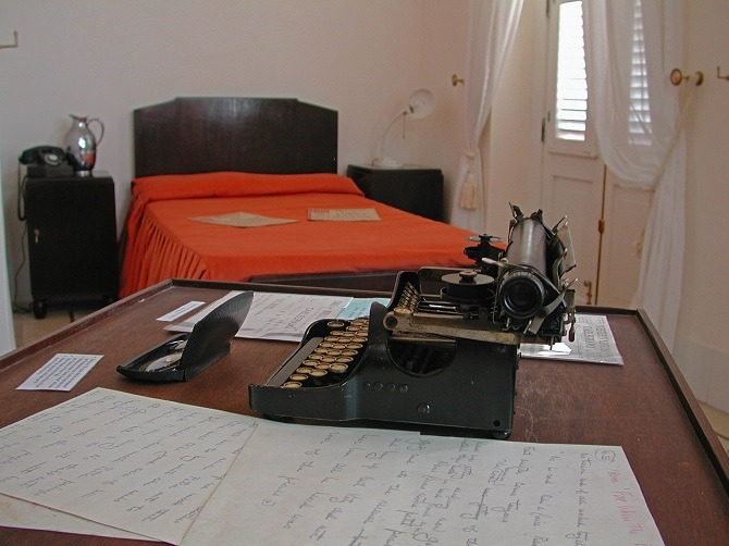Ernest Hemingway's room at the Ambos Mundos hotel in Havana