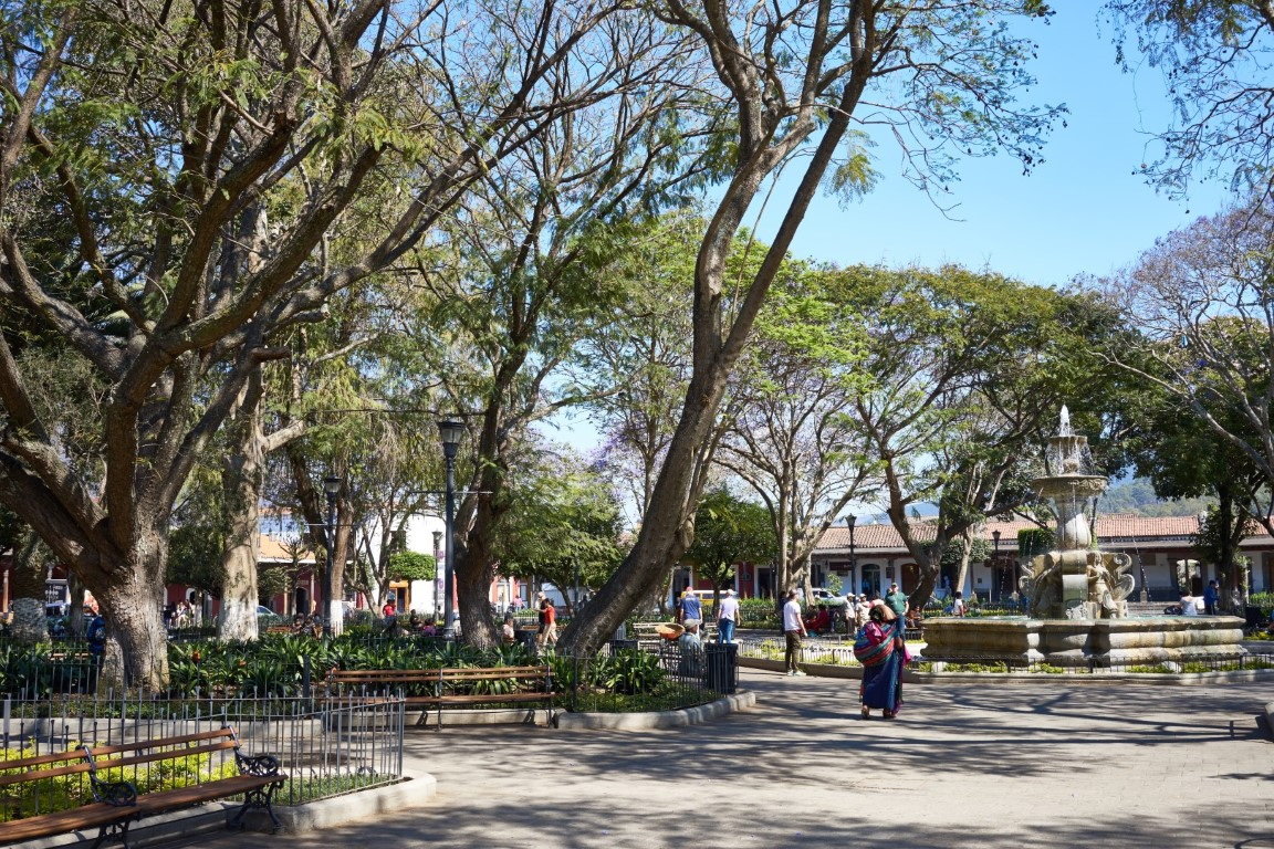 Central park in Antigua, Guatemala