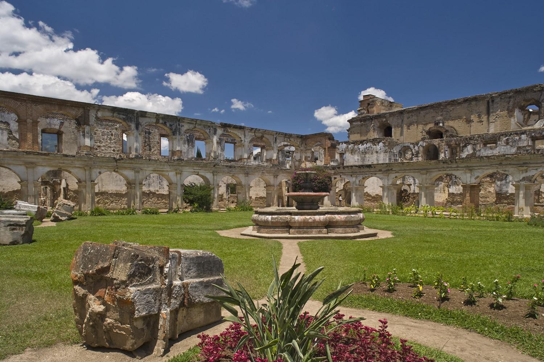 Ruined courtyard in Antigua, Guatemala