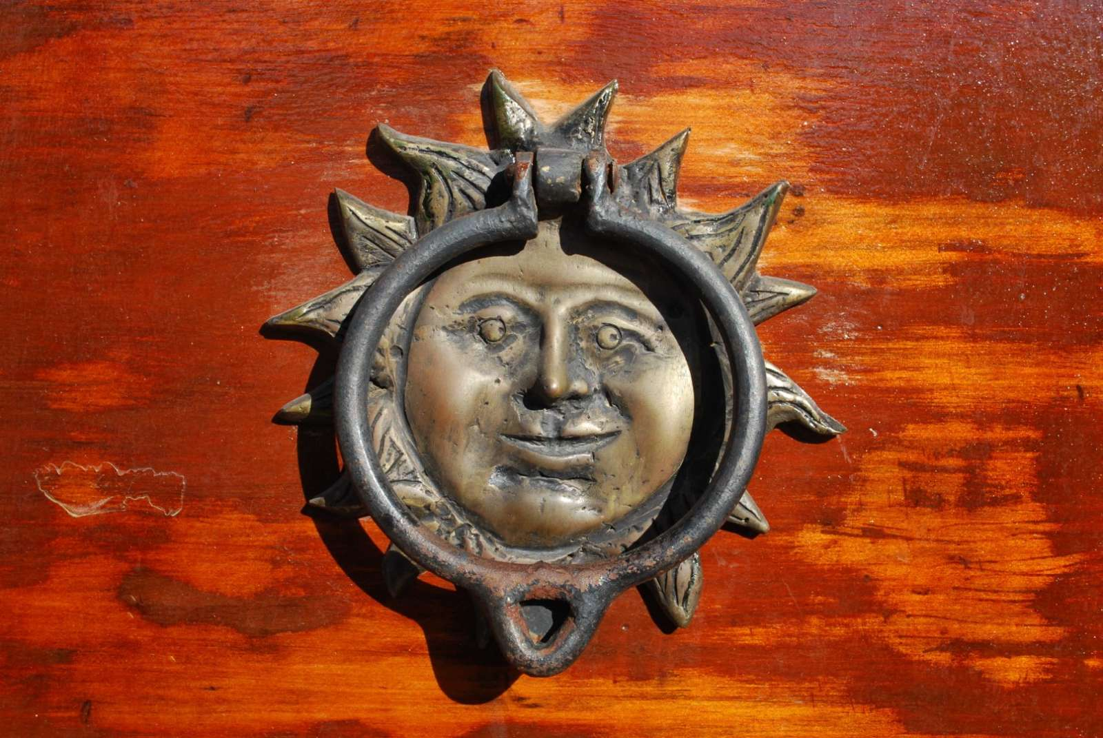 Door knob in Antigua, Guatemala