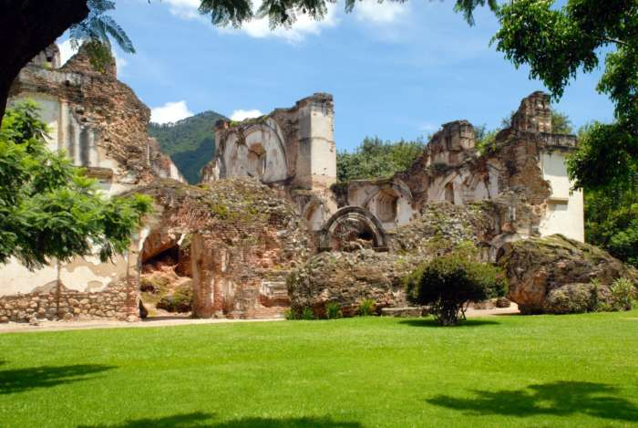 Ruins Of La Recoleccion in Antigua, Guatemala.