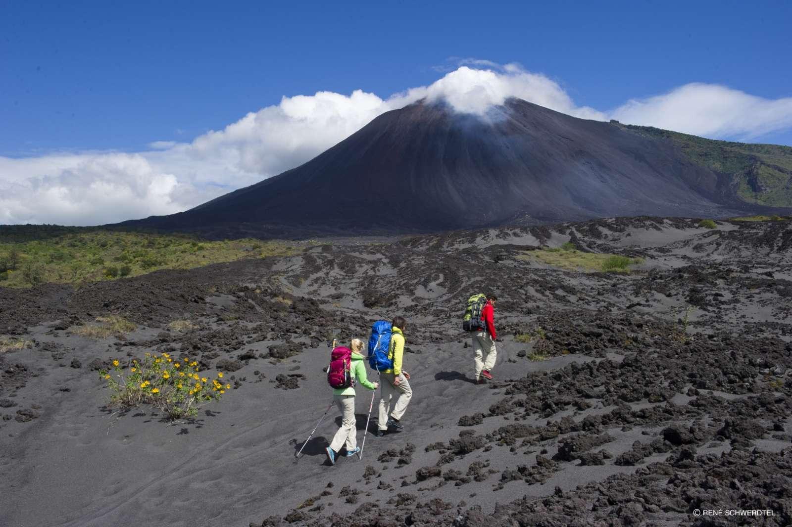 Hiking Mount Pacaya volcano near Antigua, Guatemala