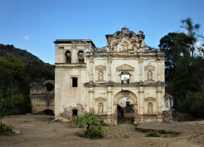 A ruined building on the outskirts of Antigua