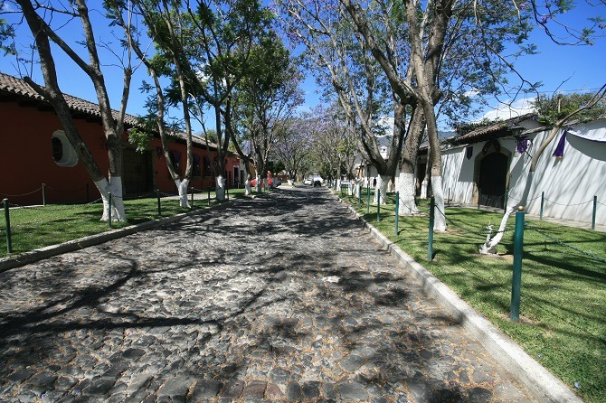 A colonial street in Antigua, Guatemala