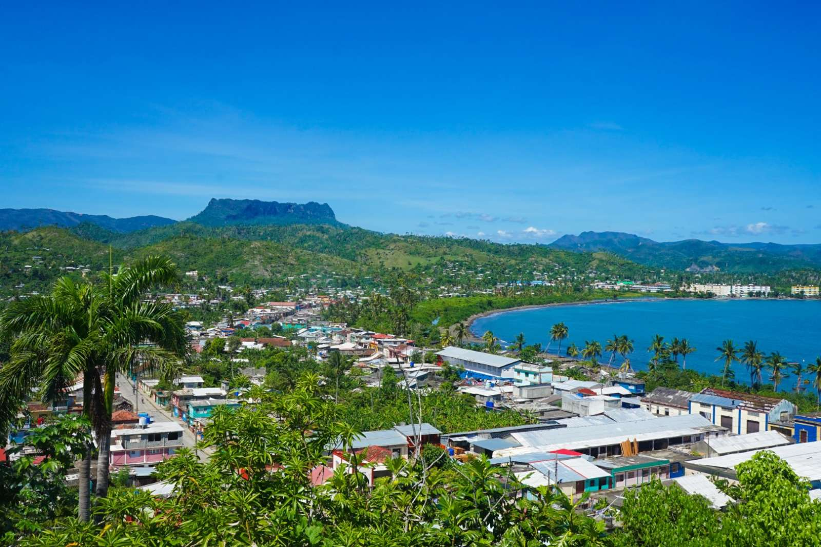 View over Baracoa Bay in Cuba