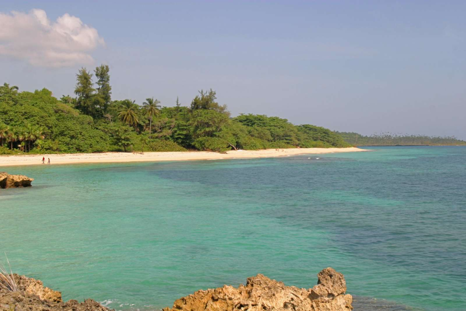 Beach at Playa Maguana near Baracoa in Cuba