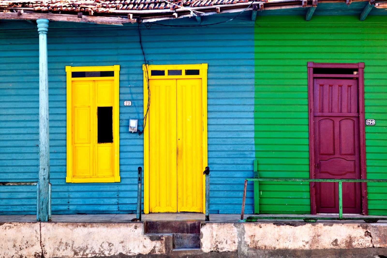 Colourful houses in Baracoa Cuba