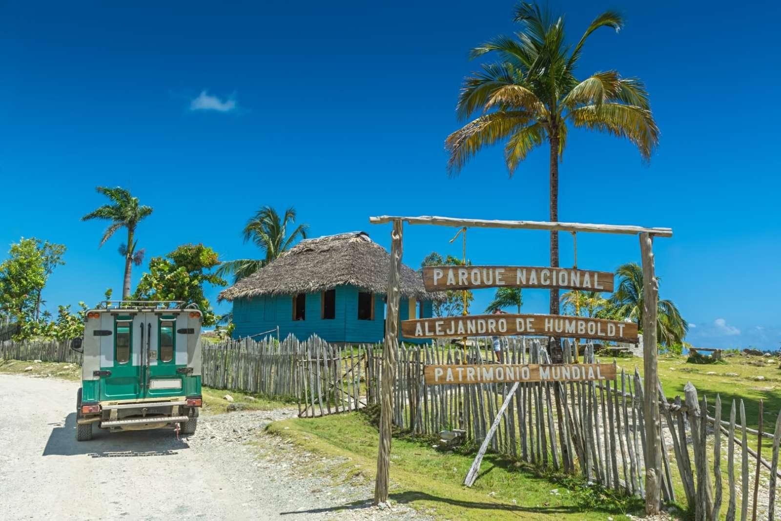 Entrance to Alejandro De Humboldt National Park near Baracoa Cuba