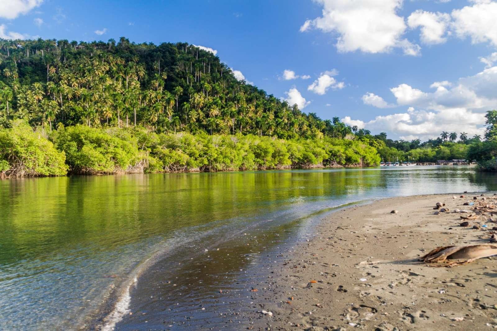 Mouth of the Rio Miel near Baracoa Cuba