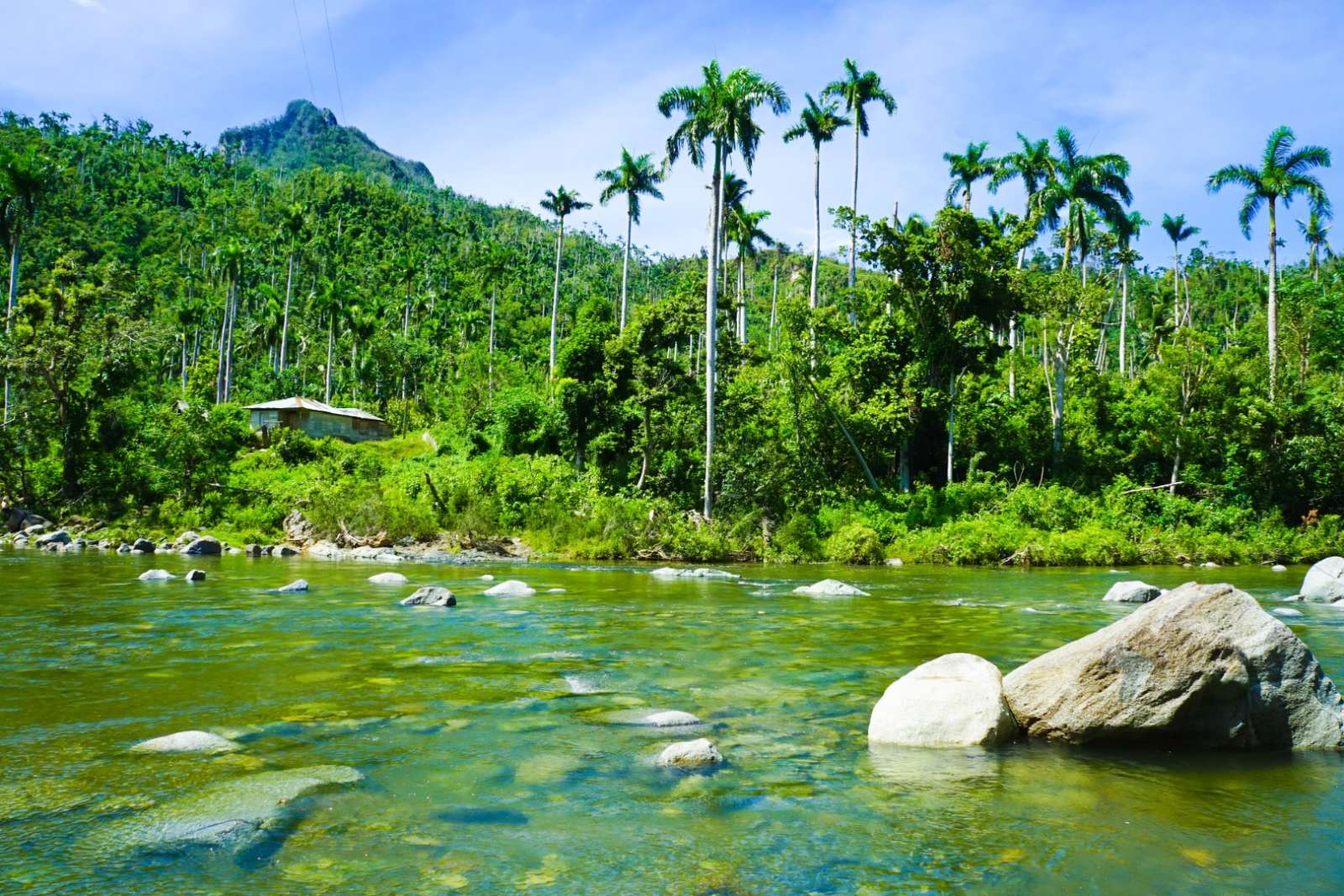 Scenic river running through the Baracoa countryside
