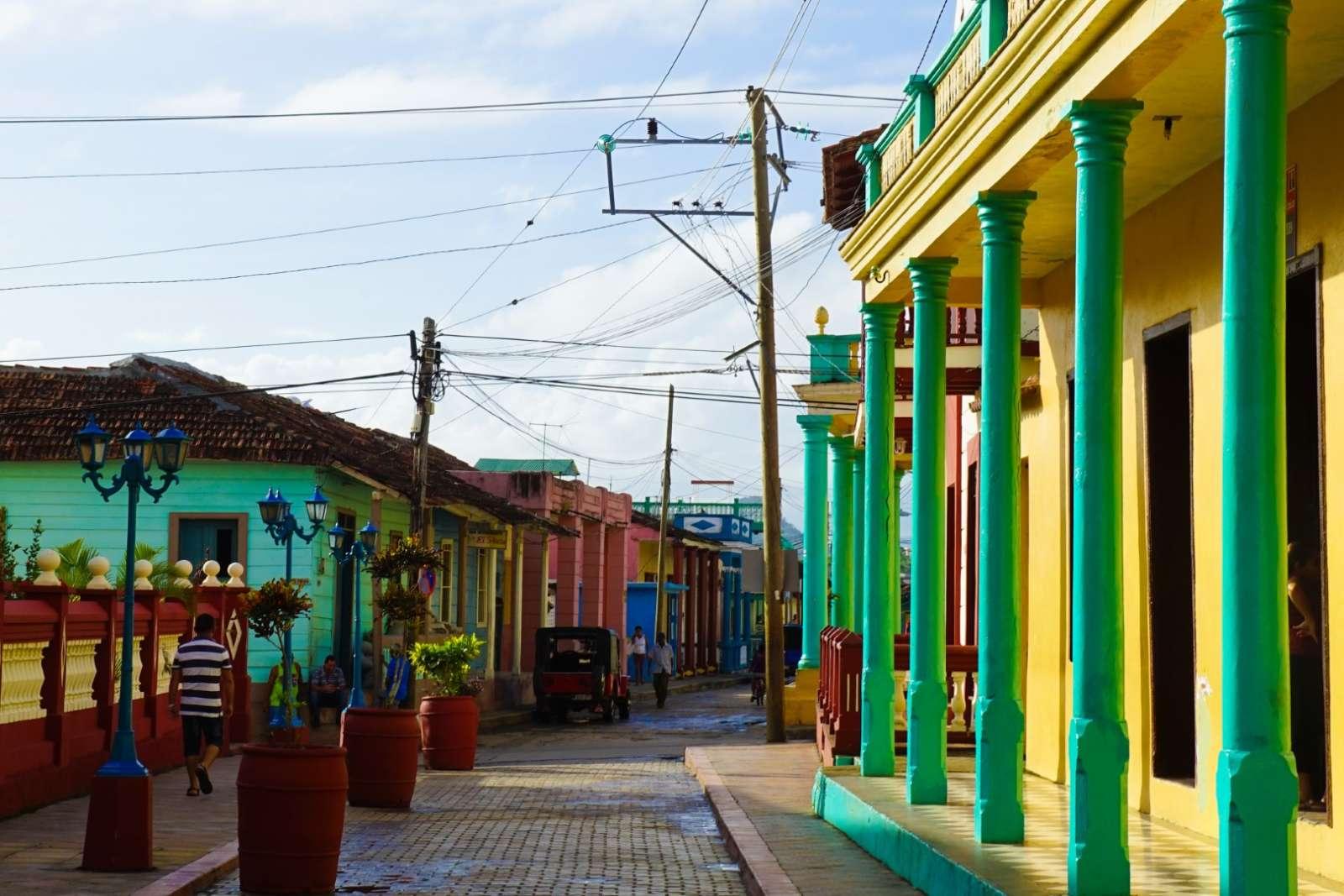 Street scene in Baracoa Cuba