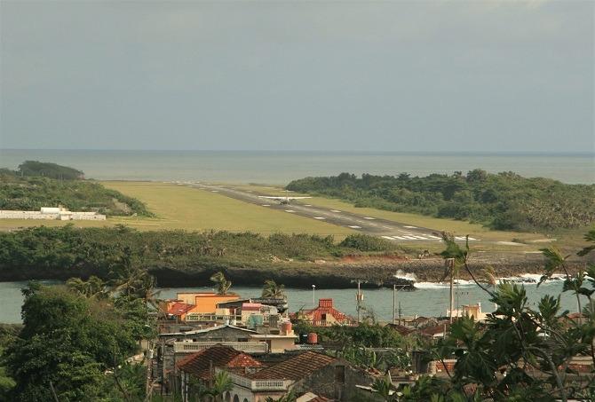Baracoa airport in Cuba