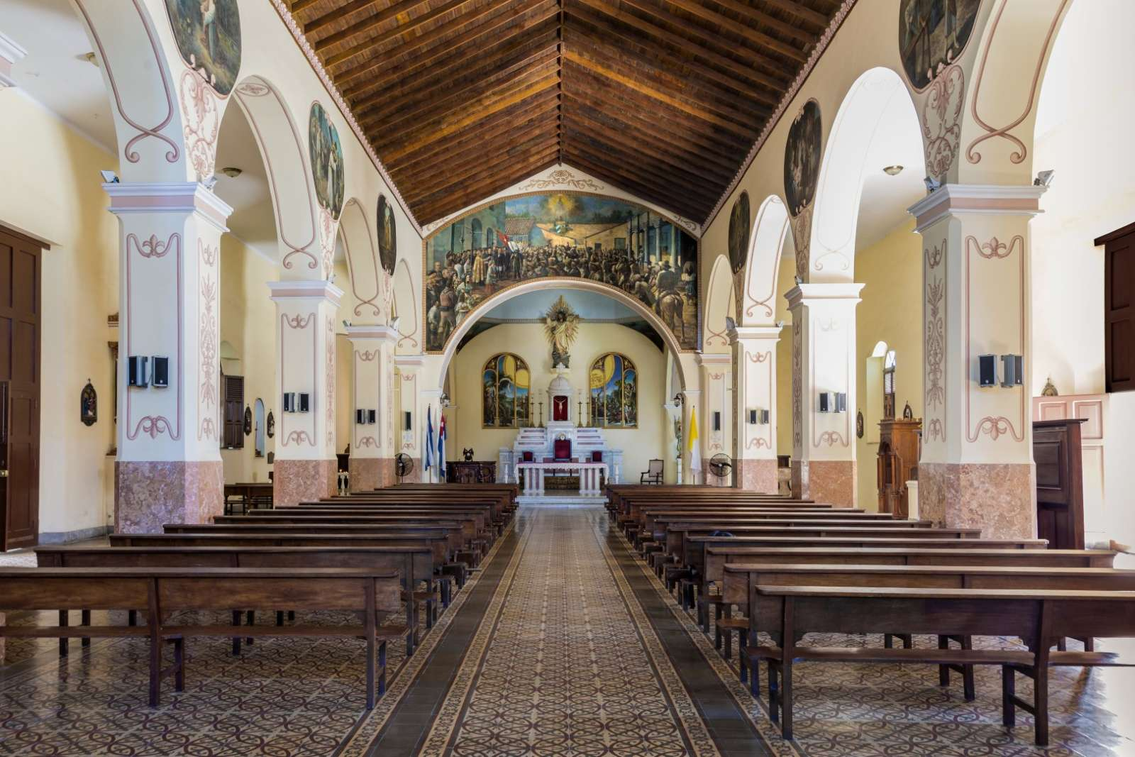 Interior of Bayamo cathedral in Cuba