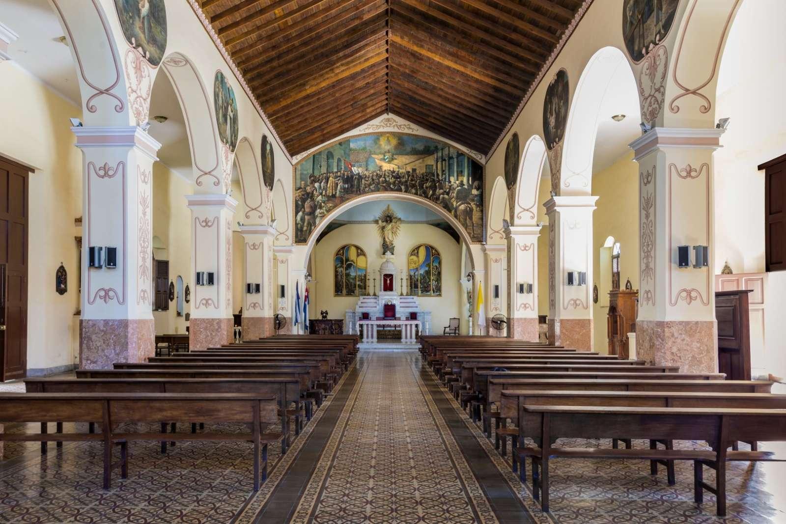 Interior of Bayamo cathedral in Cuba