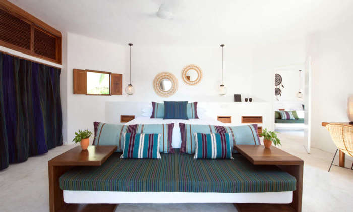 Palapas del Mar beach hotel in Holbox, Mexico