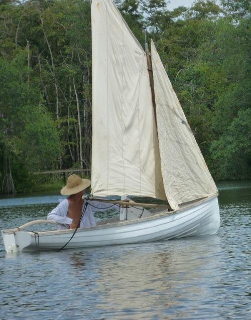 Man on boat near Livingston