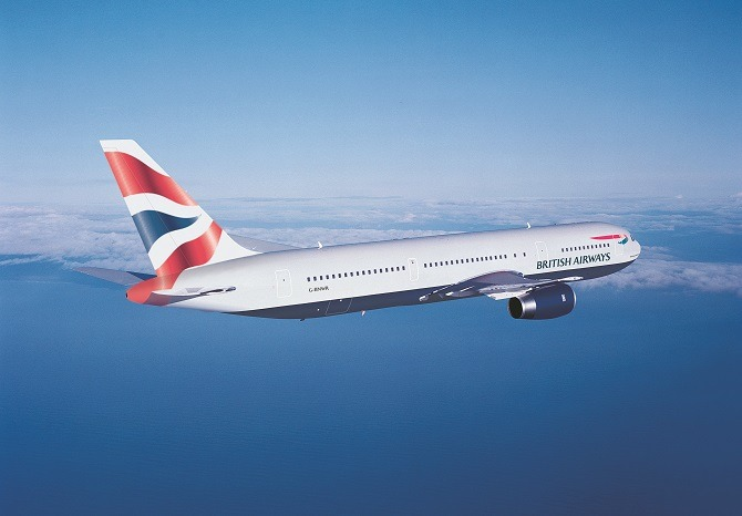 A British Airways 777 inflight