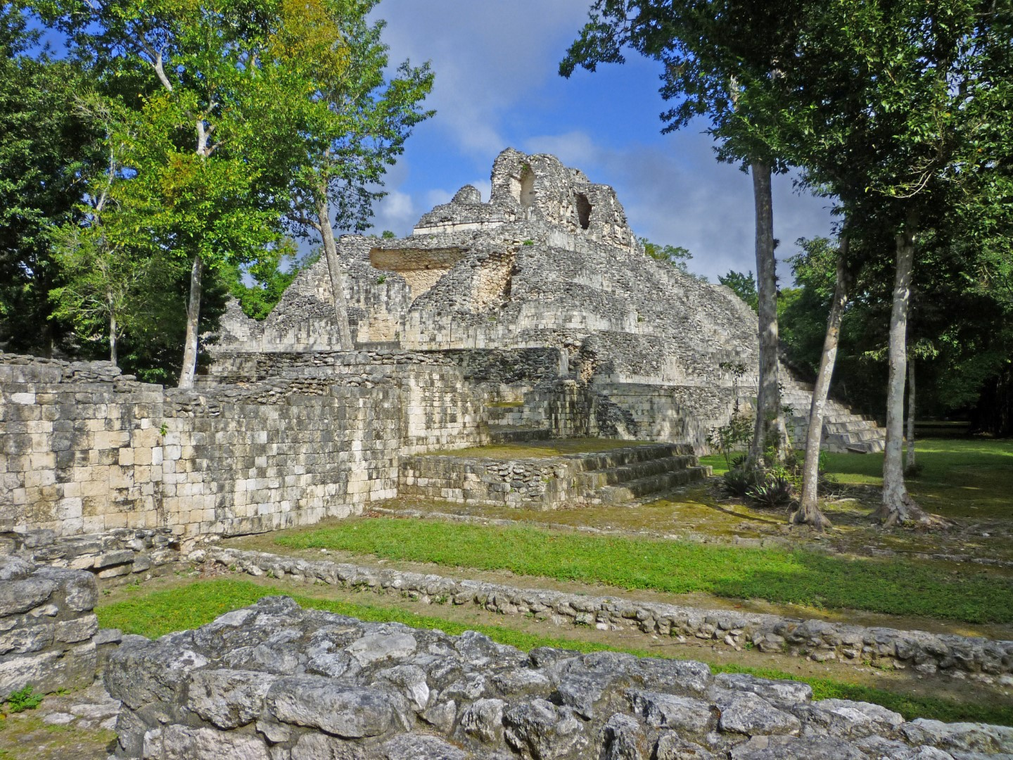 Mayan ruins at Calakmul in Mexico
