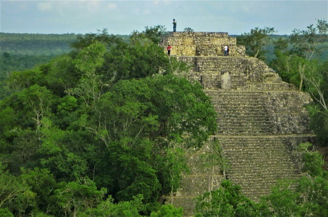 One of the vast pyramids at the Mayan site of Calakmul