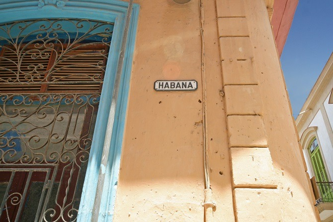 Calle Habana in Havana, Cuba
