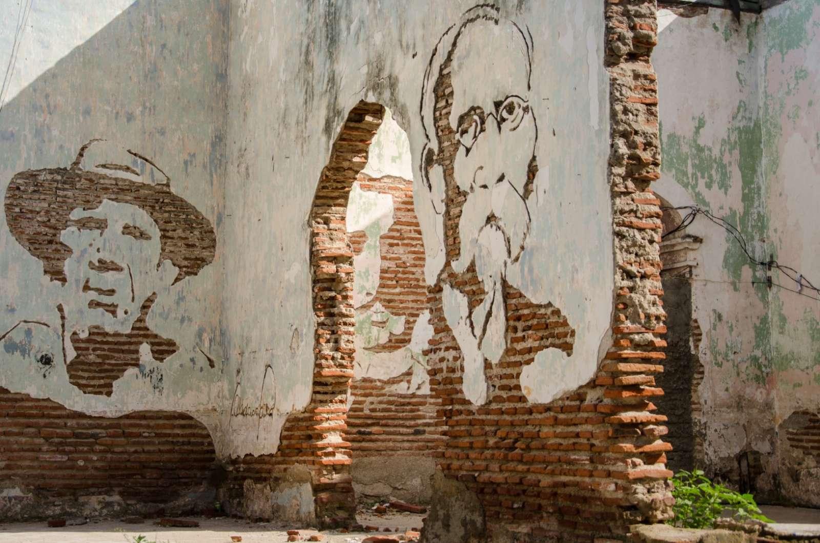 A mural in Camaguey Cuba