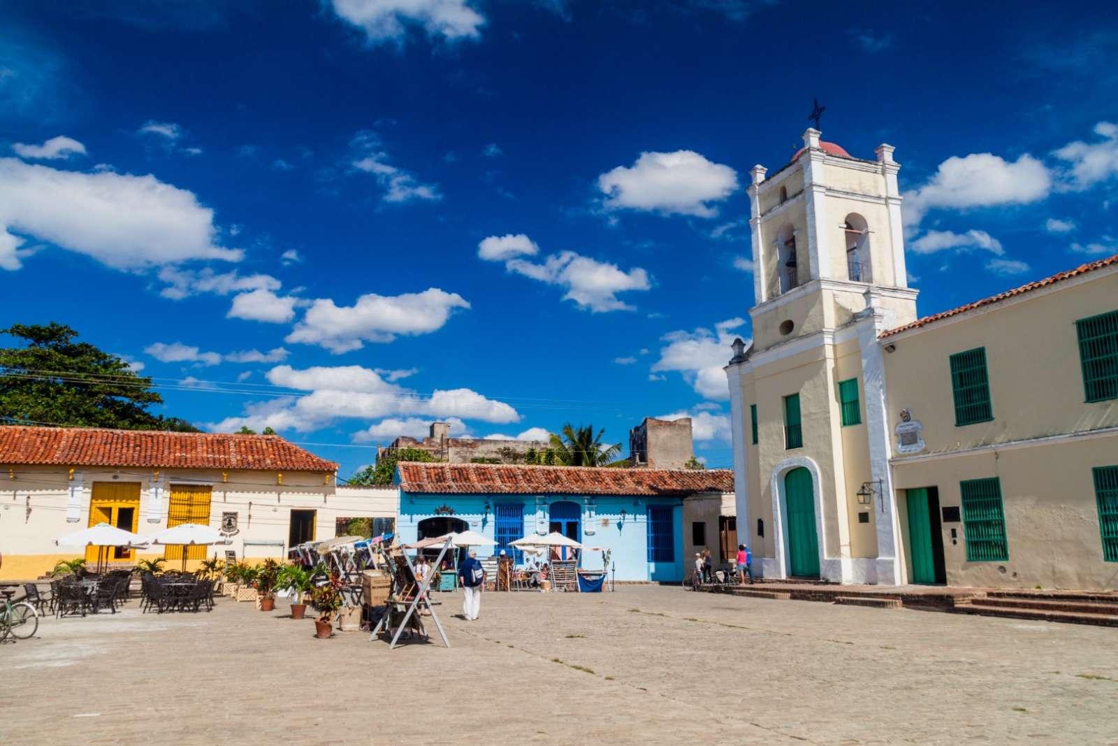 Plaza San Juan de Dios in Camaguey, Cuba