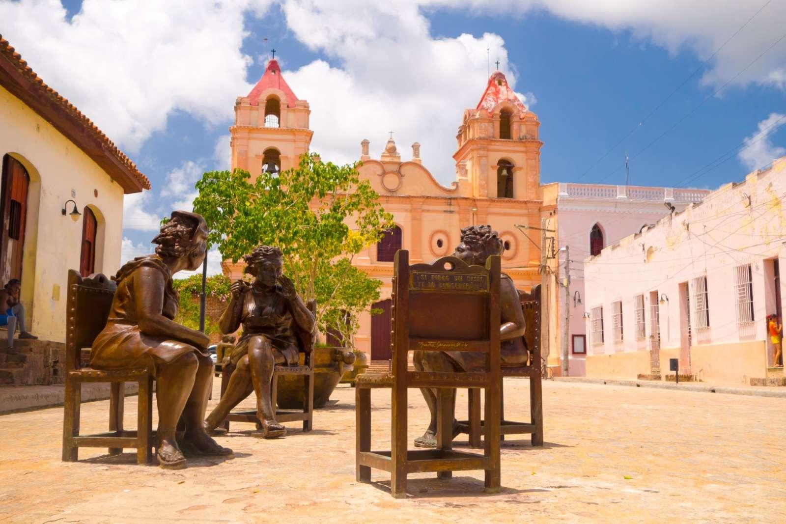 Street art statues in Camaguey, Cuba