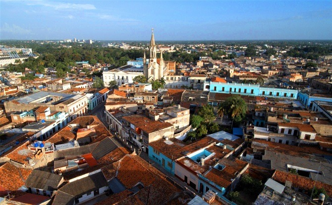 The city of Camaguey in Eastern Cuba
