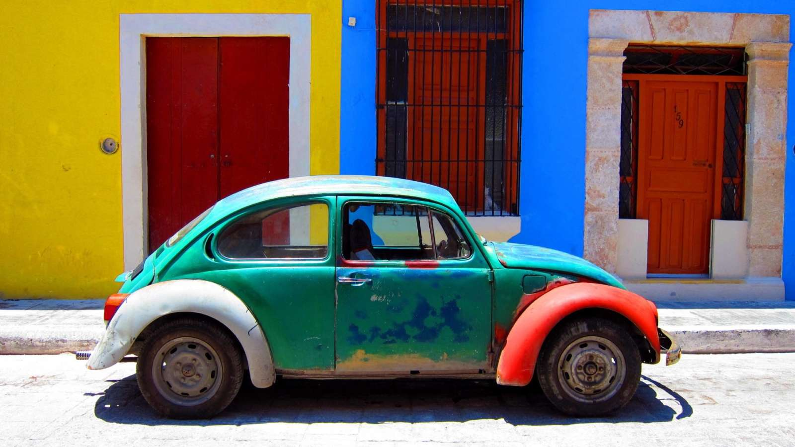 Old VW Beetle in Campeche Mexico
