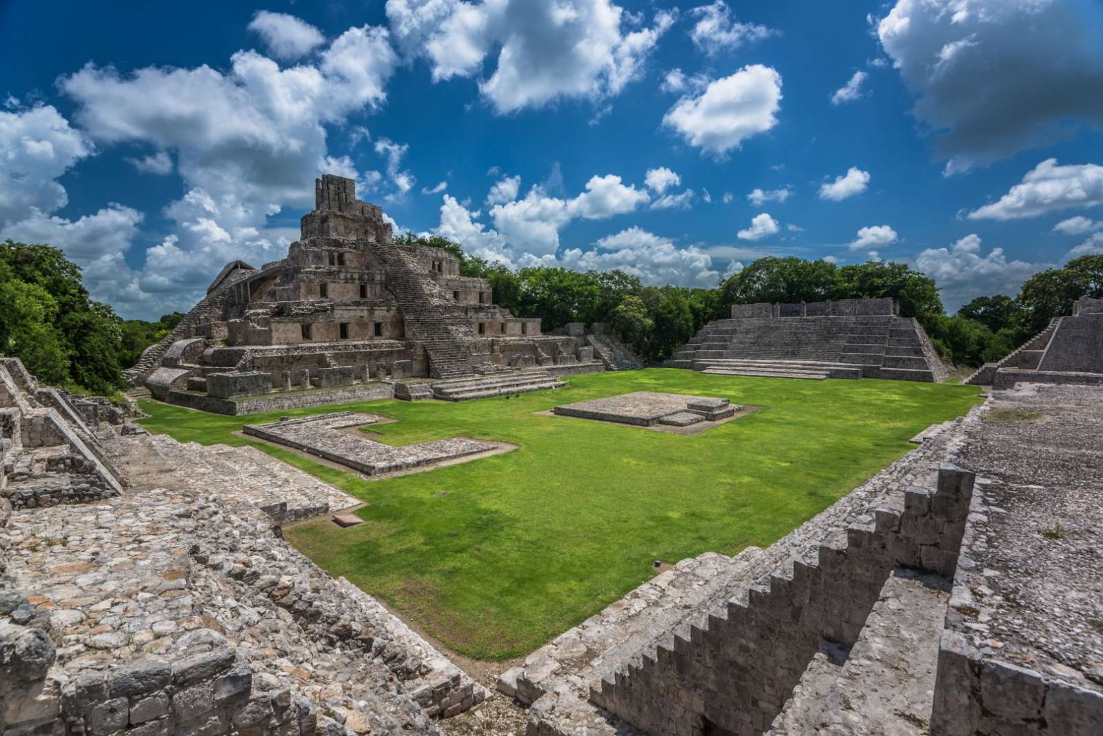 The Mayan ruins of Edzna near Campeche Mexico