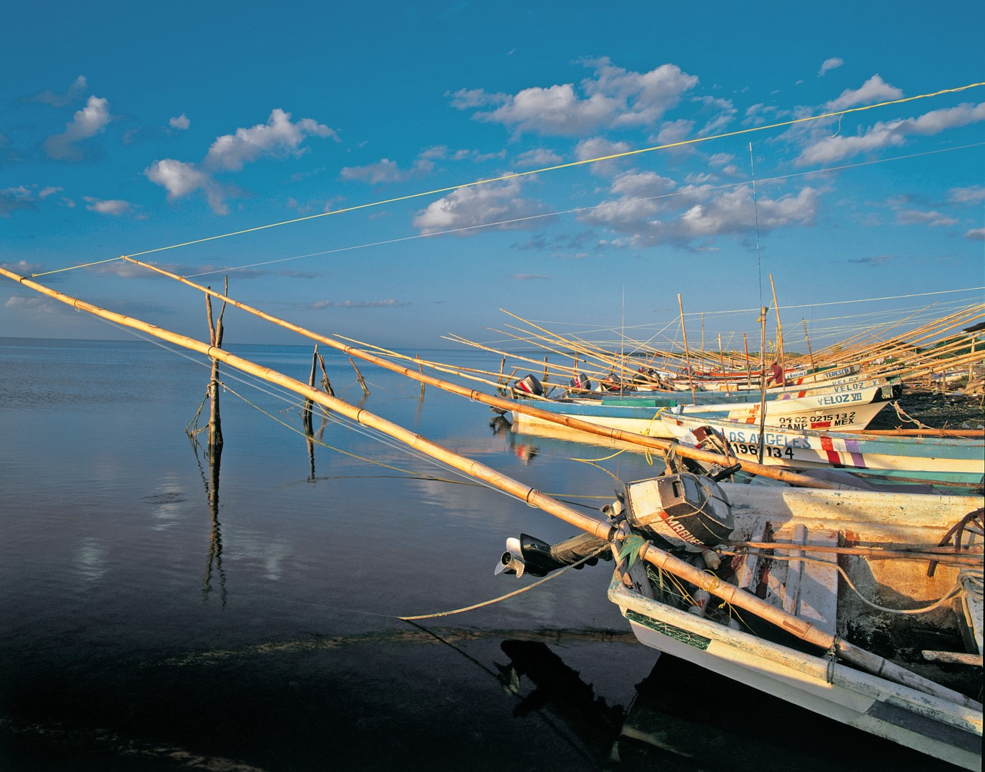 Fishing boats near Campeche Mexico